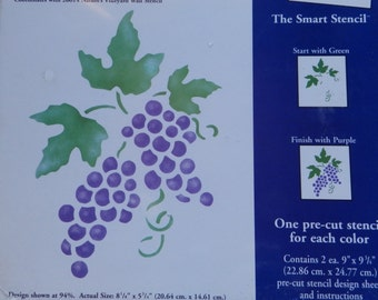 Plaid Stencil Decor 27702 Vineyard Grapes