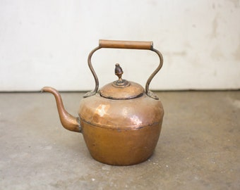 Rustic Antique Copper Kettle