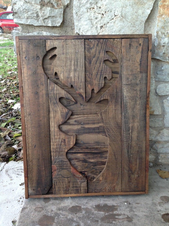 Pallet Wood Deer Silhouette Wall Hanging Rustic by ...