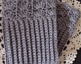 Crochet Scalloped Boot Cuff Set, Boot Cuff, Boot Cuff Set, Crochet Boot Cuff, Scalloped Edge Crochet Boot Cuff
