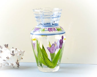 Vintage Hand Painted Glass Vase