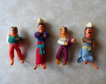 Vintage Worry Dolls, Trouble Dolls, Guatemalan Teeny Weeny Handmade Ethnic Dolls,Miniature World Toys,Primitive Folk Art,Worry,Trouble Dolls