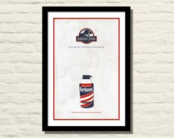 Jurassic Park Movie Poster, Art Print, 11 X 17, Minimalist Poster, Home Decor