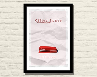 Office Space Movie Poster, Art Print, 11 X 17, Minimalist Poster, Home Decor