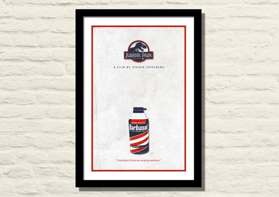 Jurassic Park Movie Poster Art Print 11 X 17 Minimalist