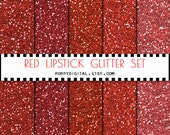 Red Glitter Digital Paper Background {Texture Pattern Overlay} for scrapbooking - Instant Download