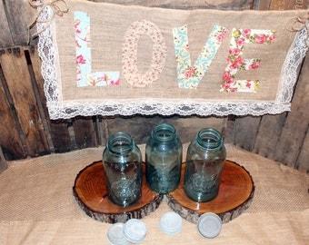 Vintage Blue Ball Mason Jar,Half Gallon,wedding centerpiece,ball perfect mason,floral arrangement,vintage mason jar,rustic wedding,blue ball