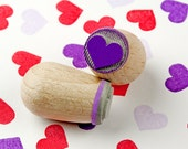 Heart lilac - mini stamp Ø 1,4 cm