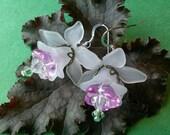 Pink Flower Fairy Earrings