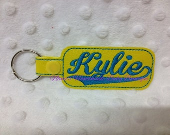 Kylie - In The Hoop - Snap/Rivet Key Fob - DIGITAL EMBROIDERY DESIGN