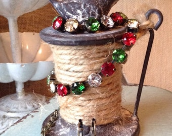Swarovski Crystal Christmas Colored Choker