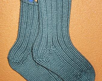 Hand Knit Warm slipper socks Medium