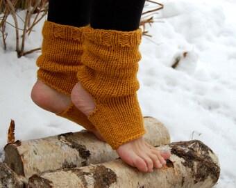 Yoga Socks, Pedicure socks, Pilates socks, Toe - less Socks,  Knitted Dance Socks, Flip Flop Socks, Hand Knit Spats,