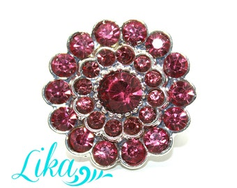 Metal Rhinestones - Hot Pink - Flatback Rhinestones - Flat back - Rhinestones - Embellishment - Supply - Wholesale - 25 mm