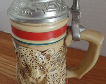 Avon~ 1991 Mini Stein from the Endangered Species Series.  Jaguar # 078246.