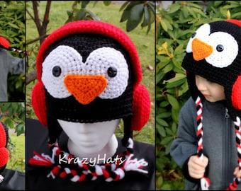 Crochet Happy Penguin hat