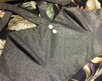 Lurex vintage style boned top