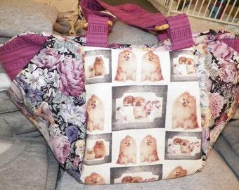 "Beautiful Pomeranian Purse 12""X12"""