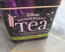 SALE ITEM Alice in Wonderland 'Unbirthday Tea' Tin Perfect for Tea Time Disney Collectable