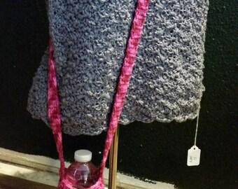 over the shoulder water bottle holder (candy print)