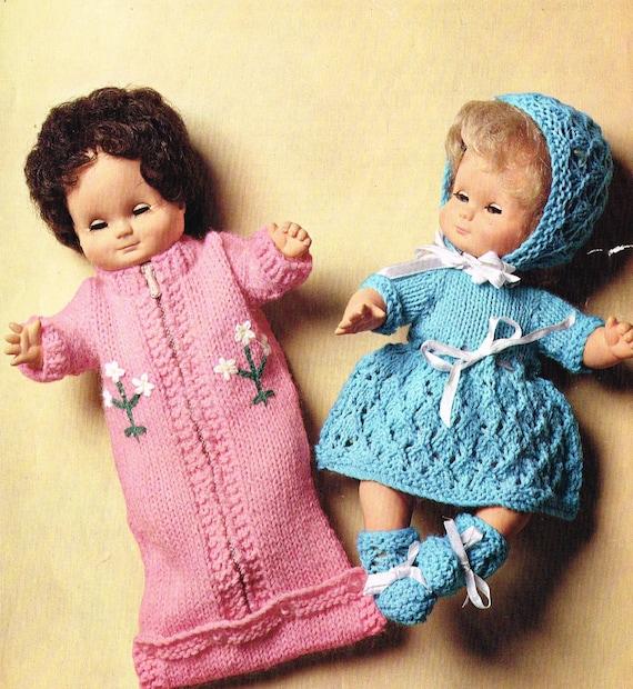 Knitting Pattern For Dolls Sleeping Bag : Dolls clothes knitting pattern. 12 doll.Sleeping bag