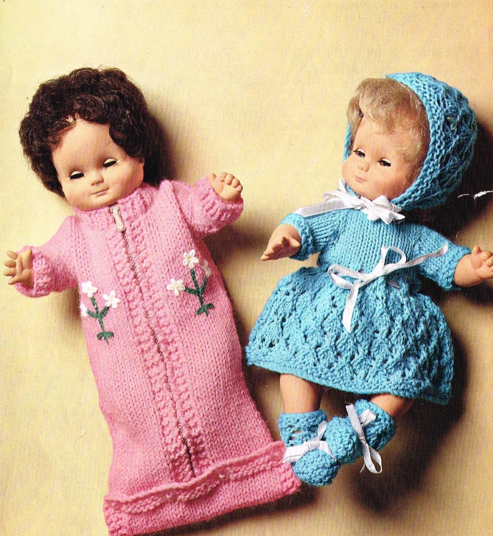 Knitting Pattern 12 Inch Doll : Dolls clothes knitting pattern. 12 doll.Sleeping bag