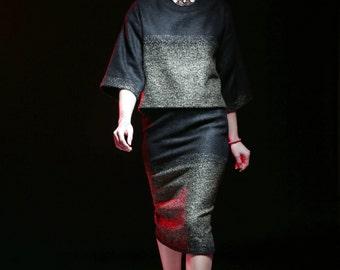 Women skirt; Pencil skirt; Midi pencil skirt; Women midi skirt; High Waist Pencil Skirt: Black skirt