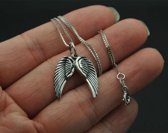 All Sterling Silver Angle Wing necklace, Angel Wing Necklace, Sterling Silver Angel Necklace, Silver Wing Necklace, Friend, Sister,