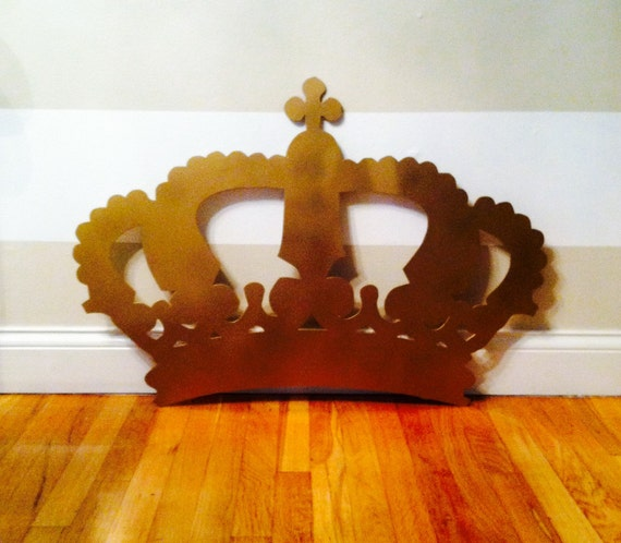 Extra Large King Queen Crown Metal Cut Out Wall By