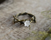 Vine Ring,Flower ring, Bronze Ring, Wish Ring,Spring Jewelry,Everyday Jewelry,Friendship Gift,Gift for Her,Birthday Gift