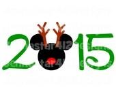 Disney Christmas 2015 DIY Printable Iron On Transfer Digital File