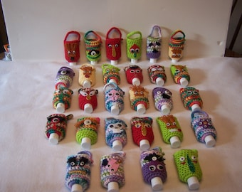 Your Choice Kids Monster HAND SANITIZER HOLDER Cozy with sanitizer