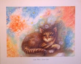 Cat Print By Gaby Blam