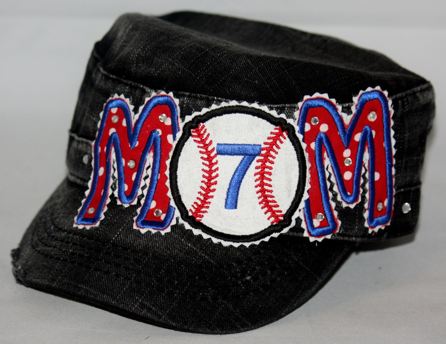 custom baseball hat embroidered applique baseball hat