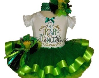 St Patricks Day Tutu Set . Infant . Irish Princess