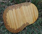 Vine-rimmed Wood-burned Cutting Board