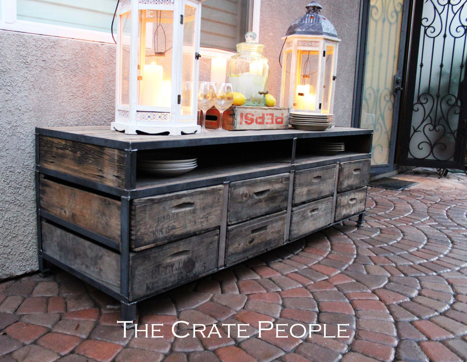 Free shipping the henry 8 drawer buffet table or tv console - Buffet table images ...