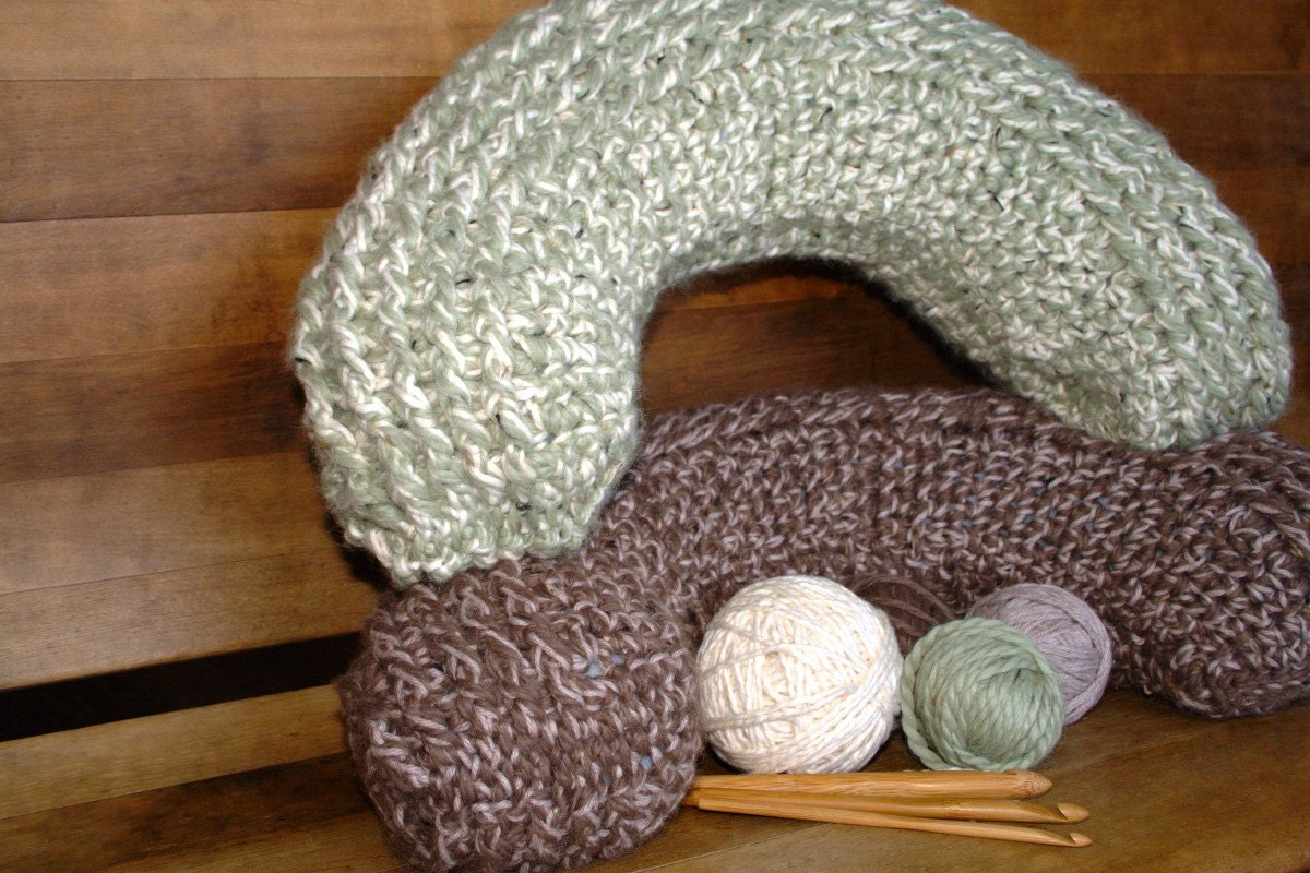 Crochet Pattern Neck Pillow : Crochet Pattern Neck Pillow Crochet by HiddenMeadowCrochet
