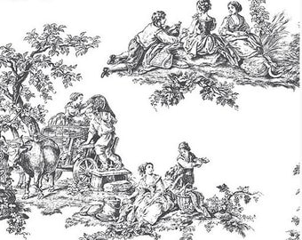 toile wallpaper etsy