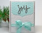 Joy Christmas Card, Handmade Christmas Card, Fancy Holiday Card