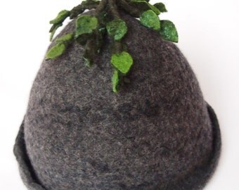 felted  wool Sauna hat for men handmade