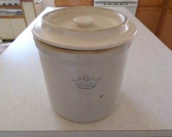 Vintage 1930's Stoneware Pickle Jar