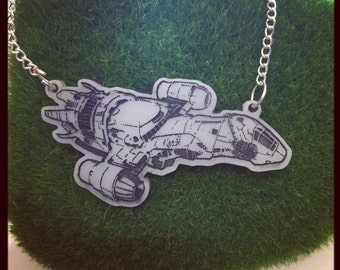 Firefly inspired Serenity Ship Necklace