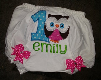 Owl bloomers or diaper cover