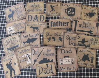 Set of (21) Assorted Sizes Dad Prim Pantry Labels