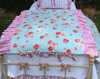 "MAJOR SALE!  Sweet ""Lizzy"" 5 pc Twin Bedding Set - Ready to Ship!"
