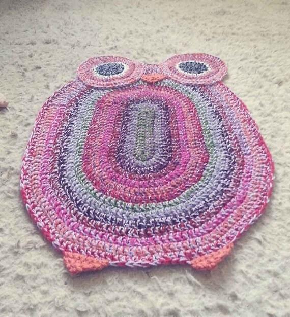 Crochet Owl Rug Pattern: Crocheted Owl Rug Pattern