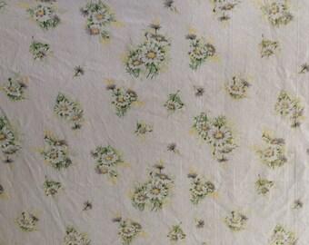 Daisy Print Vintage Twin Flat Sheet