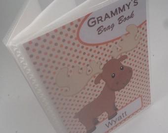 Grandmas brag book personalized photo album baby photo album boy photo album girl photo album shower gift 4x6 or 5x7 picture moose 176