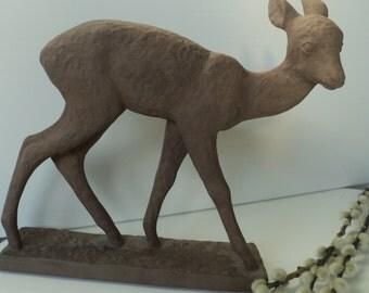 Karlsruhe majolika deer by Else Bach